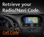 Retrieve ypor Radio/Navi code