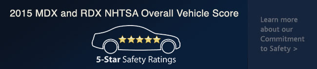 2015 MDX and RDX NHTSA Overall Vehicle Score